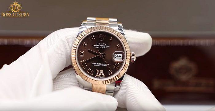 Review đồng hồ ROLEX Lady DateJust 31 sở hữu ấn tượng với mặt số chocolate